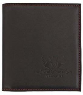 Визитница из натуральной кожи Versado 080 110*123 мм, 2 кармана, 16 листов, черная