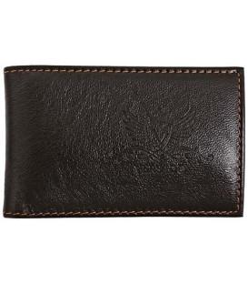 Визитница из натуральной кожи Versado 073 65*110 мм, 1 карман, 16 листов, черная