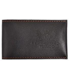 Визитница из натуральной кожи Versado 071 65*110 мм, 1 карман, 16 листов, черная
