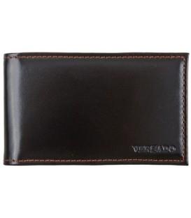 Визитница из натуральной кожи Versado 068.1 65*110 мм, 1 карман, 16 листов, черная
