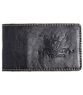 Визитница из натуральной кожи Versado 069.1 65*110 мм, 1 карман, 16 листов, черная