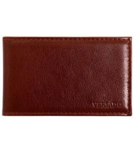 Визитница из натуральной кожи Versado 068 65*110 мм, 1 карман, 16 листов, коричневая