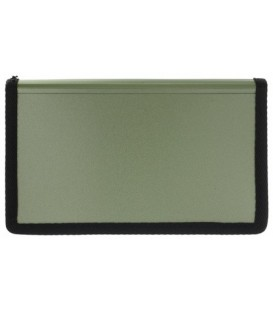 Визитница Index ICH45 115*200 мм, 3 кармана, 24 листа, зеленая