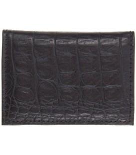 Визитница из натуральной кожи «Кинг» 4336 105*70 мм, 1 карман, 18 листов, черная