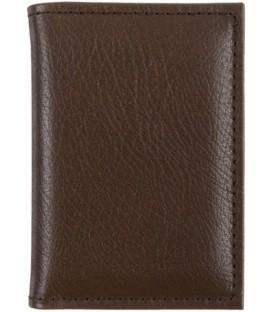 Визитница из натуральной кожи «Кинг» 4336 105*70 мм, 1 карман, 18 листов, коричневая