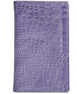Визитница из натуральной кожи «Кинг» 4333 110*185 мм, 3 кармана, 18 листов, кожа сиреневая