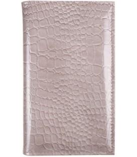 Визитница из натуральной кожи «Кинг» 4333 115*185 мм, 3 кармана, 18 листов, рифленая серая
