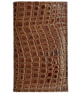 Визитница из натуральной кожи «Кинг» 4333 110*185 мм, 3 кармана, 14 листов, коричневая