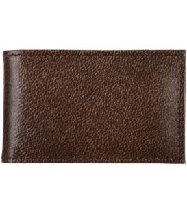 Визитница из натуральной кожи «Кинг» 4319 110*70 мм, 1 карман, 18 листов, рифленая коричневая