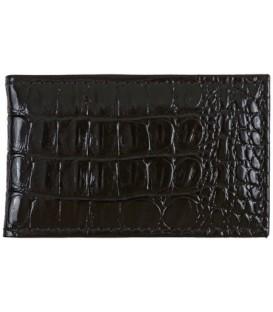 Визитница из натуральной кожи «Кинг» 4319 110*70 мм, 1 карман, 18 листов, рифленая черная