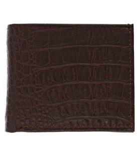 Кошелек мужской «Кинг» 4431 95*115 мм, рифленый коричневый