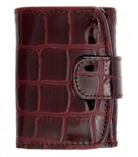 Кошелек женский «Кинг» 4408 115*80 мм, рифленый темно-бордовый