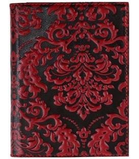 Обложка для водительского удостоверения женская «Макей» 003-11-01-14 125*95 мм, черная с красным узором