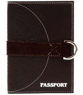 Обложка для паспорта «Макей» 009-07-10-14 130*95 мм, темно-коричневая