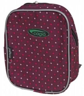 Рюкзак детский Cagia 200*170*70 мм, бордо в горошек