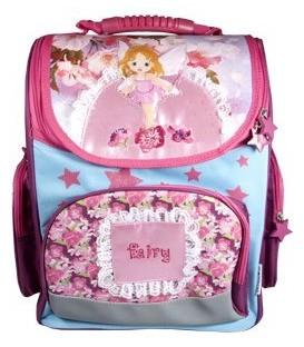 Ранец для средних классов Fairy 280*380*150 мм, фиолетовый + розовый