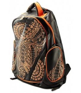 Рюкзак для средних и старших классов Oriental 430*310*150 мм, оранжевый узор