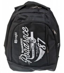 Ранец для средних и старших классов Cagia 450*320*200 мм, черный с рисунком