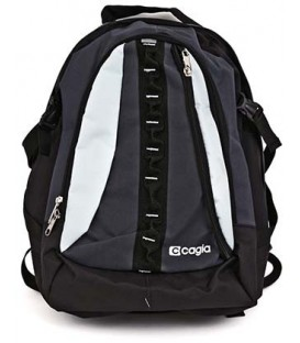 Ранец для средних и старших классов Cagia 480*320*160 мм, черно-серый