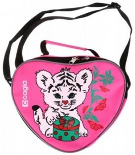 Сумка детская Cagia 250*200*100 мм, розовая с рисунком