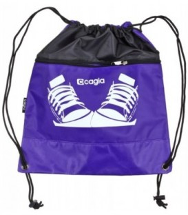 Сумка детская Cagia 390*340 мм, фиолетовая с рисунком