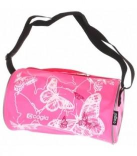 Сумка детская Cagia 280*160*160 мм, розовая с рисунком