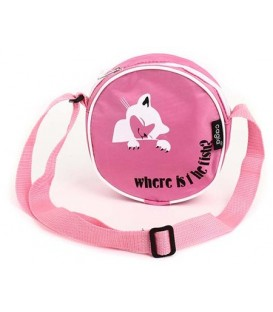 Сумка детская на плечо Cagia 600315 160*160*50 мм, розовая с рисунком