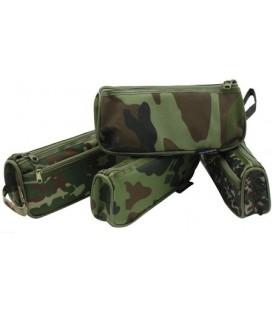 Пенал-тубус мягкий Darvish DV-9278 200*85 мм, «Милитари», ассорти, для мальчиков (цена за 1 шт.)