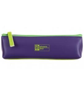 Пенал однокамерный «Феникс+» 190*55*50 мм, фиолетовый/салатовый