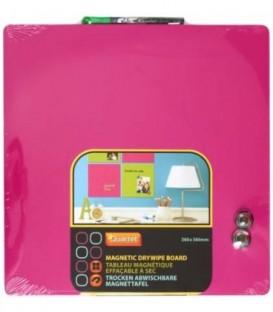 Доска магнитно-маркерная Quartet 36*36 см, розовая