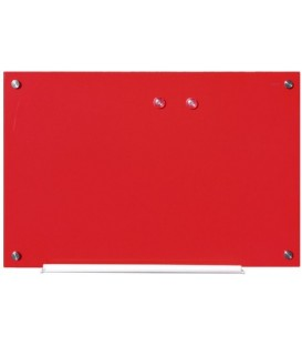 Доска маркерная магнитная стеклянная Nobo Diamond 60*90 см, красная