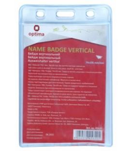 Бейдж пластиковый без крепления Optima 105*74 мм