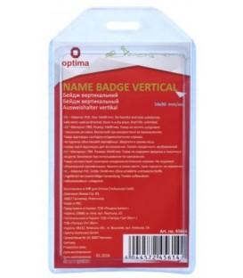 Бейдж пластиковый без крепления Optima 90*54 мм