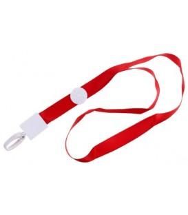 Тесьма для бейджа Optima ширина 15 мм, длина 410 мм, красная