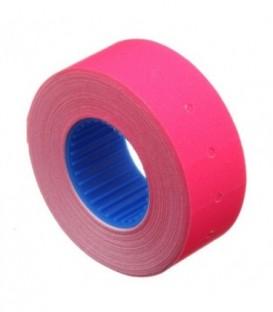 Этикет-лента однострочная Economix 21*12 мм, 1000 шт., прямоугольная, розовая