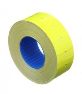Этикет-лента однострочная Economix 21*12 мм, 1000 шт., прямоугольная, желтая