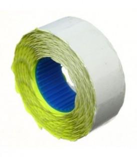 Этикет-лента однострочная Economix 22*12 мм, 1000 шт., фигурная, желтая