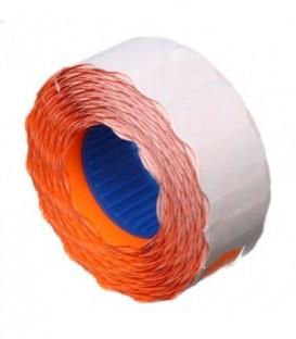Этикет-лента однострочная Economix 22*12 мм, 1000 шт., фигурная, оранжевая