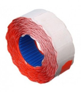 Этикет-лента однострочная Economix 22*12 мм, 1000 шт., фигурная, красная