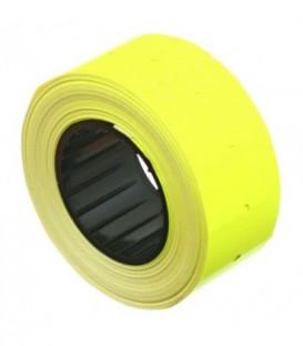 Этикет-лента однострочная 21*12 мм, пластиковая втулка, желтая