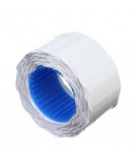 Этикет-лента двустрочная Economix 26*12 мм, 500 шт., фигурная, белая (намотка вовнутрь)