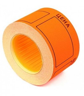 Ценник на клейкой основе Rolls 50*40 мм, оранжевый