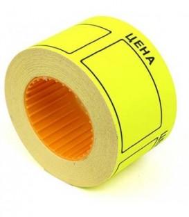 Ценник на клейкой основе Rolls 50*40 мм, желтый