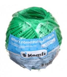 Шпагат полипропиленовый Komfi 1,6 мм, 50 м, зеленый