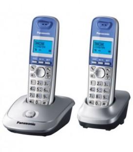Телефон KX-TG2512RU Panasonic беспроводной 2 трубки: серебристый