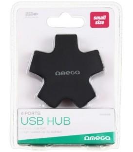 Концентратор USB Hub Omega OUH24S 4 порта, черный