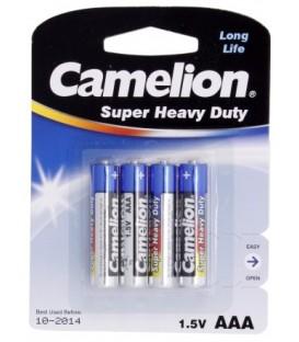 Батарейка солевая Camelion Blue Super Heavy Duty AAA, R03P Micro UM4, 1.5V