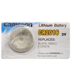 Батарейка литиевая дисковая Camelion Lithium CR2016, 3V