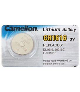 Батарейка литиевая дисковая Camelion Lithium CR1616, 3V