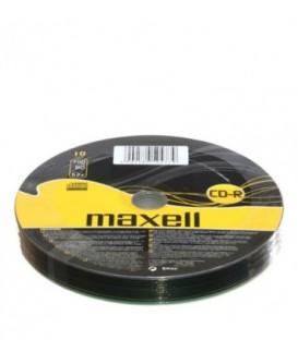 Компакт-диск CD-R Maxell 52x, 10 шт., в тубе